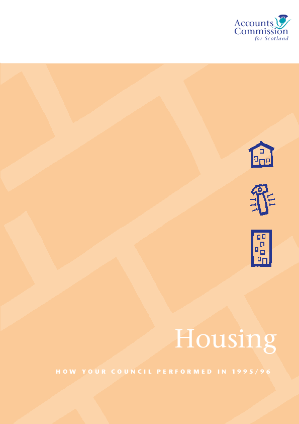 Report cover: Housing - How your service performed in 1995/96