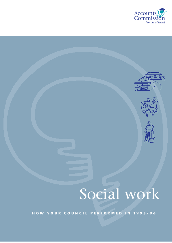 Report cover: Social Work - How your service performed in 1995/96