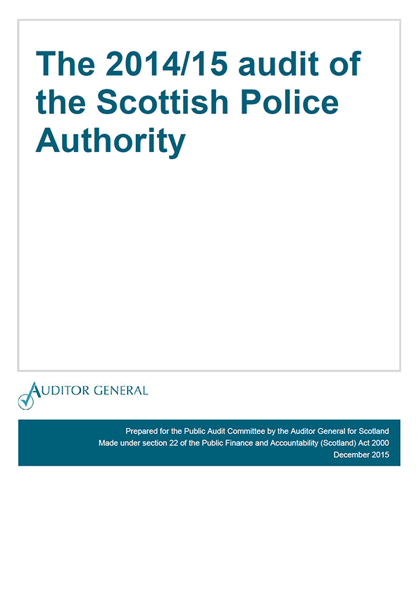 View The 2014/15 audit of the Scottish Police Authority