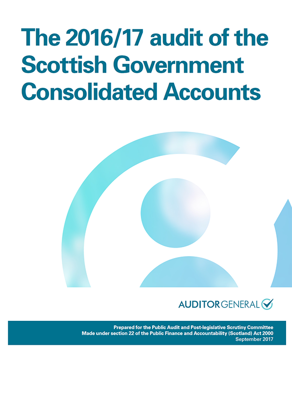 Report cover: The 2016/17 audit of the Scottish Government Consolidated Accounts