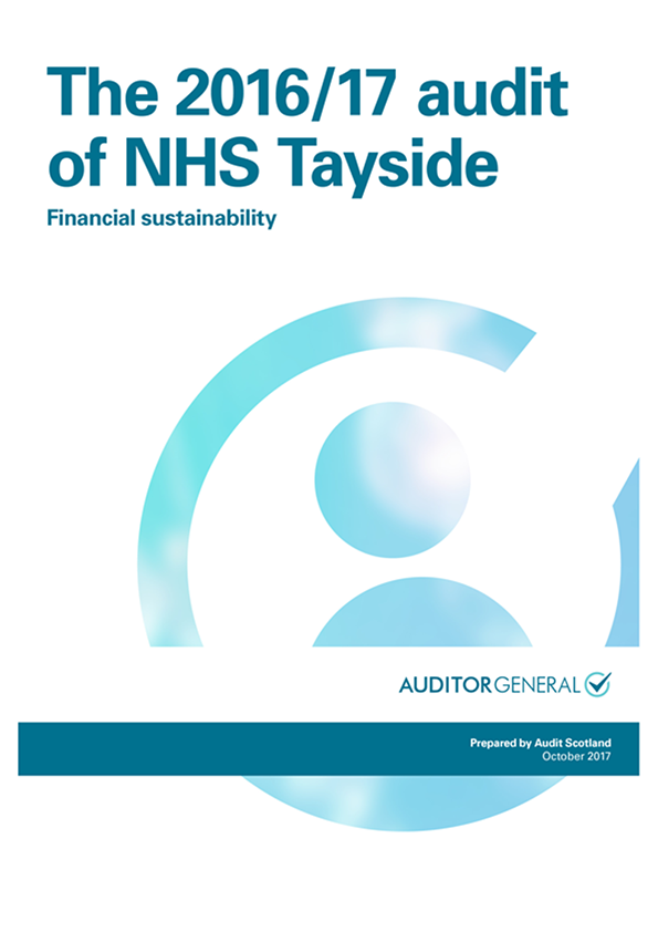 Report cover: The 2016/17 audit of NHS Tayside: Financial sustainability