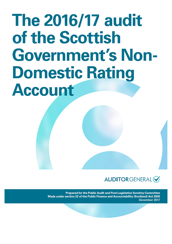 Report cover: The 2016/17 audit of the Scottish Government's Non-Domestic Rating Account