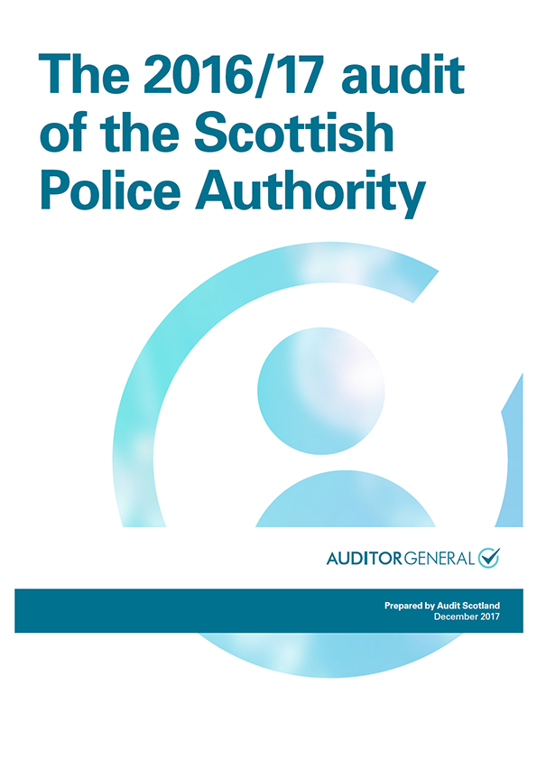 Report cover: The 2016/17 audit of the Scottish Police Authority