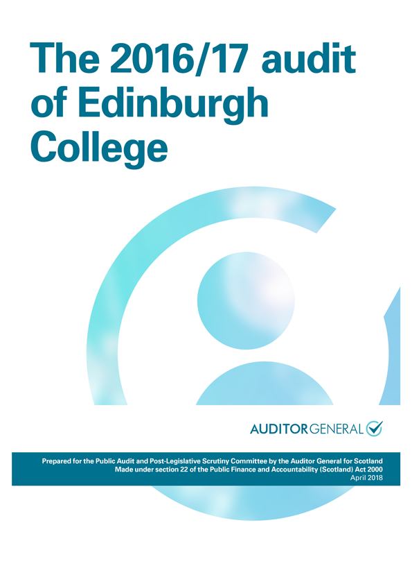 Report cover: The 2016/17 audit of Edinburgh College