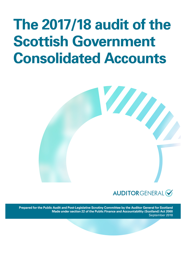 Report cover: The 2017/18 audit of the Scottish Government Consolidated Accounts