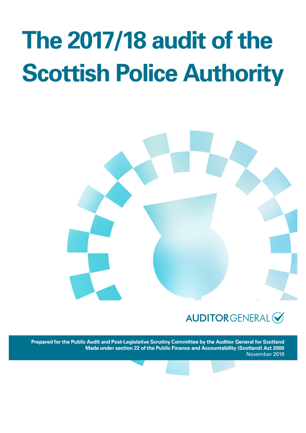 Report cover: The 2017/18 audit of the Scottish Police Authority