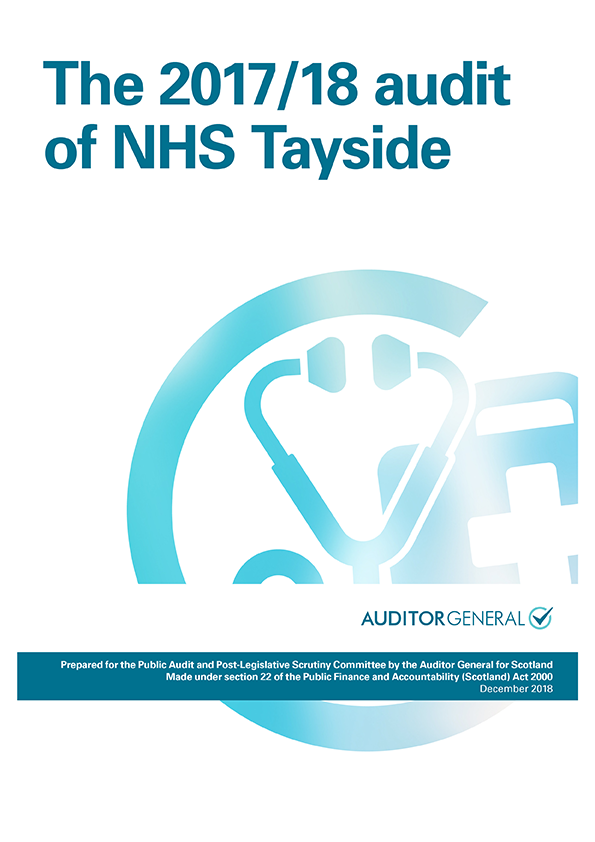 Report cover: The 2017/18 audit of NHS Tayside