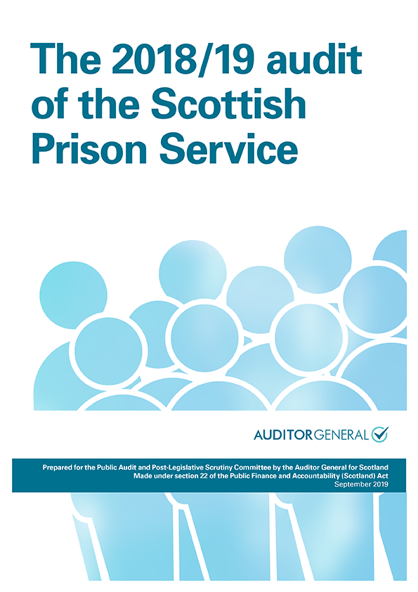 Report cover: The 2018/19 audit of the Scottish Prison Service