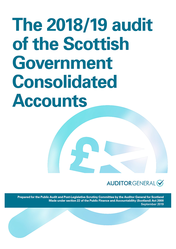 The audit 2018/19 audit of the Scottish Government Consolidated Accounts