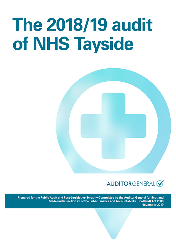 Report cover: The 2018/19 audit of NHS Tayside