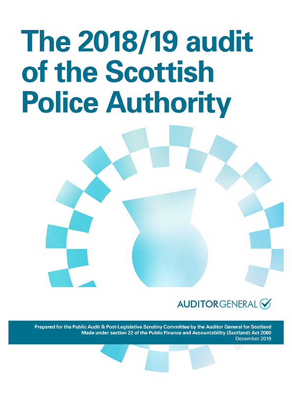 Report cover: The 2018/19 audit of the Scottish Police Authority