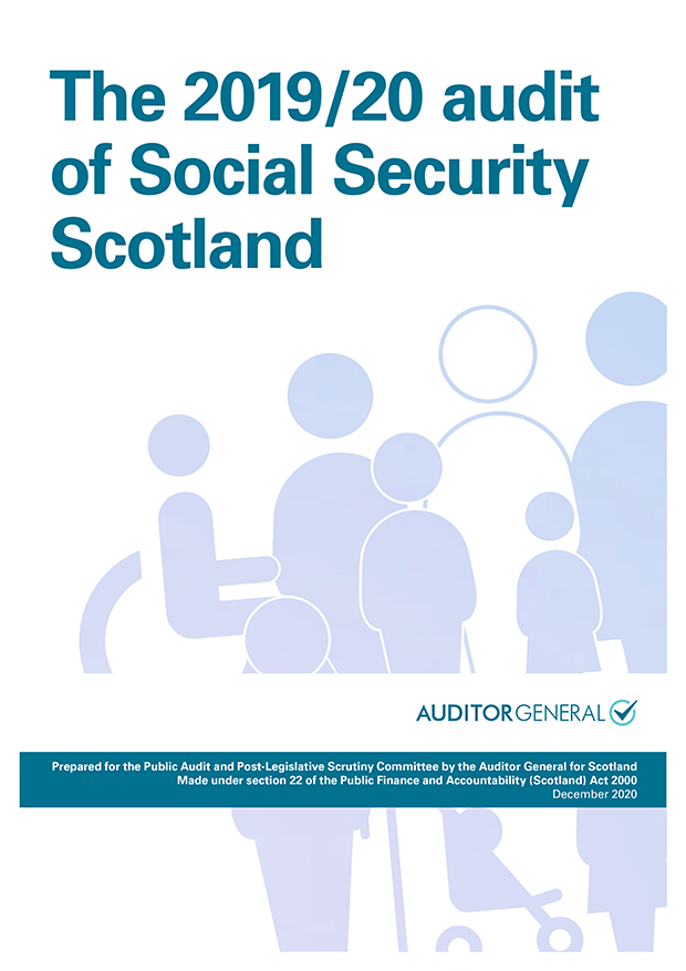 Report cover: The 2019/20 audit of Social Security Scotland