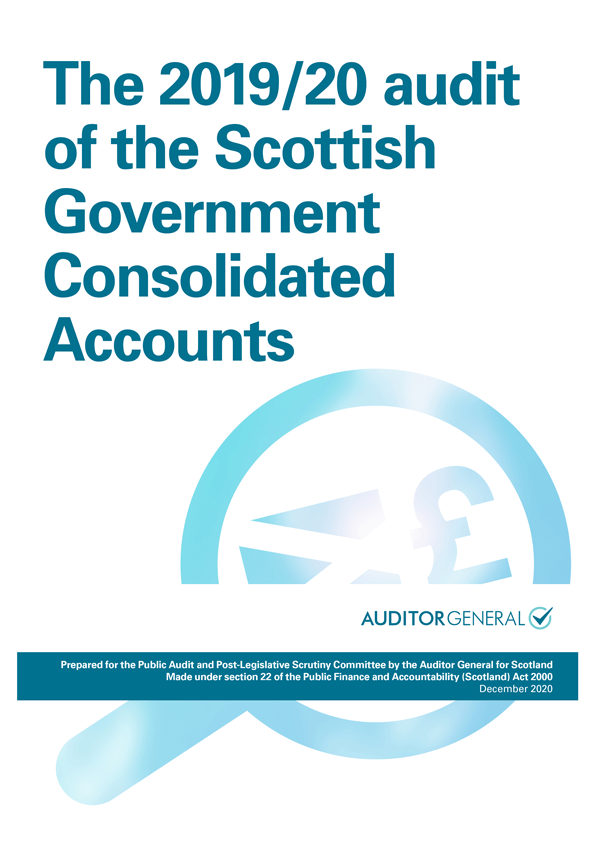 Report cover: The 2019/20 audit of the Scottish Government Consolidated Accounts