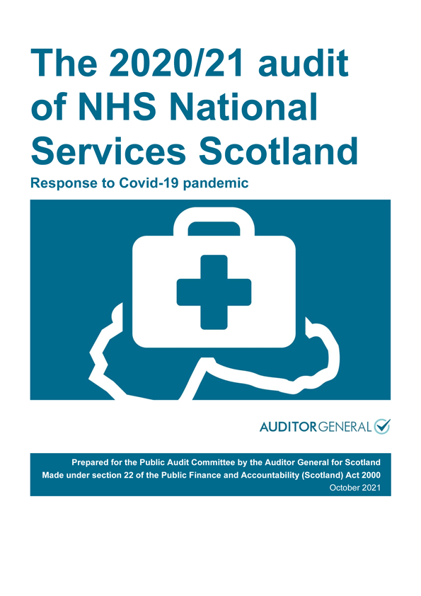 View The 2020/21 audit of NHS National Services Scotland