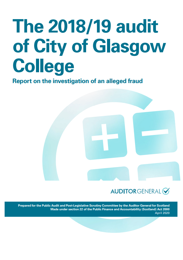 The 2018 19 Audit Of City Of Glasgow College Audit Scotland