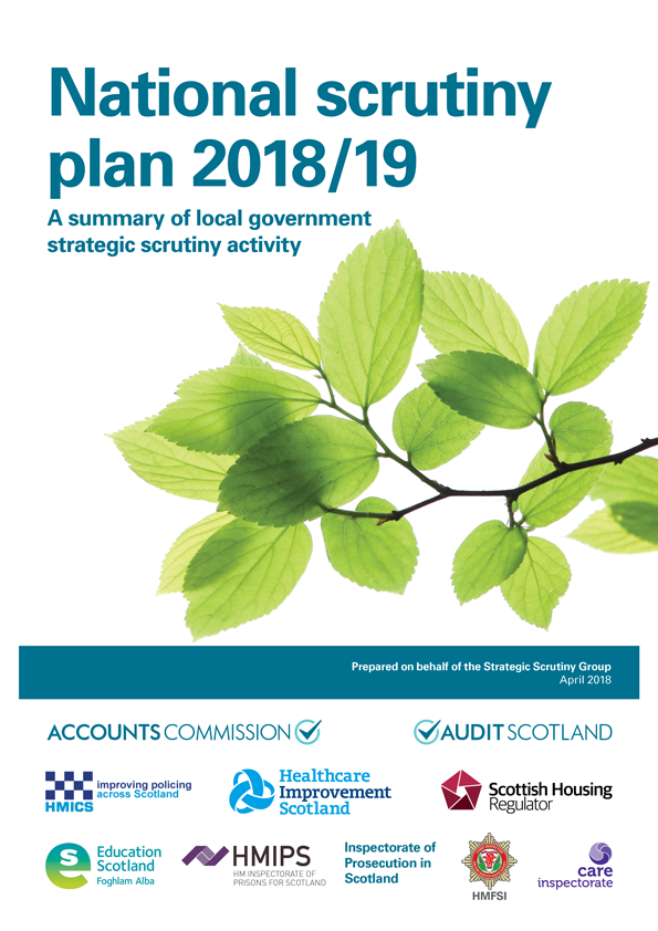 Report cover: National Scrutiny Plan for Local Government 2018/19