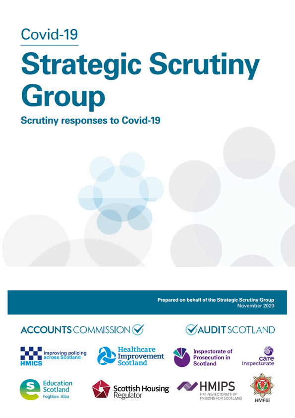 Report cover: Covid-19 Strategic Scrutiny Group