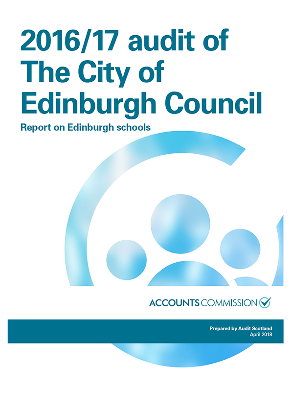 Report cover: 2016/17 audit of The City of Edinburgh Council: Report on Edinburgh schools