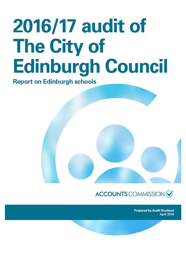 Report cover: 2016/17 audit of The City of Edinburgh Council: Report on Edinburgh schools