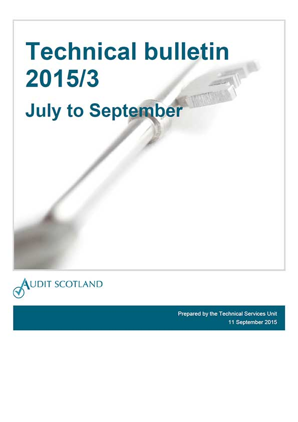 View Technical bulletin 2015: July - September