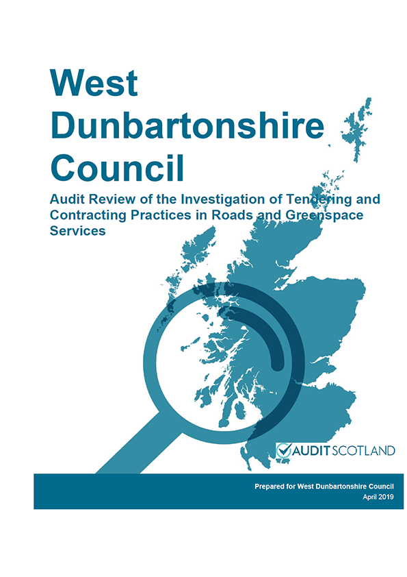 Report cover: West Dunbartonshire Council
