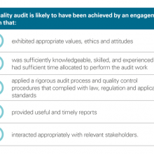 Quality audit features