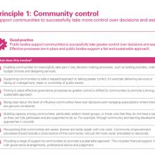 Principle 1: Community control