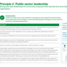 Principle 2: Public sector leadership