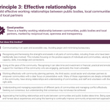 Principle 3: Effective relationships