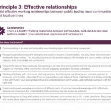 Principle 3: Effective relationships