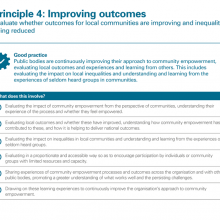 Principle 4: Improving outcomes