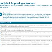 Principle 4: Improving outcomes