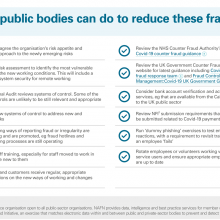 What public bodies can do to reduce these fraud risks