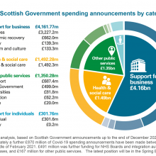 Breakdown of Scottish Government spending announcements by category
