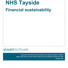 The 2015/16 audit of NHS Tayside: Financial sustainability