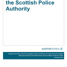 The 2015/16 audit of the Scottish Police Authority