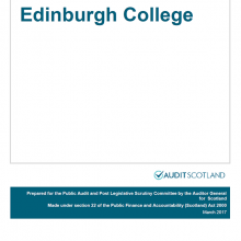 The 2015/16 audit of Edinburgh College