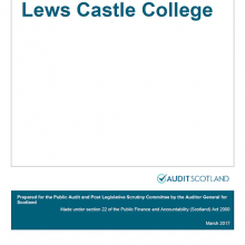 The 2015/16 audit of Lews Castle College