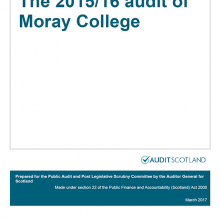 The 2015/16 audit of Moray College