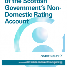 The 2016/17 audit of the Scottish Government's Non-Domestic Rating Account