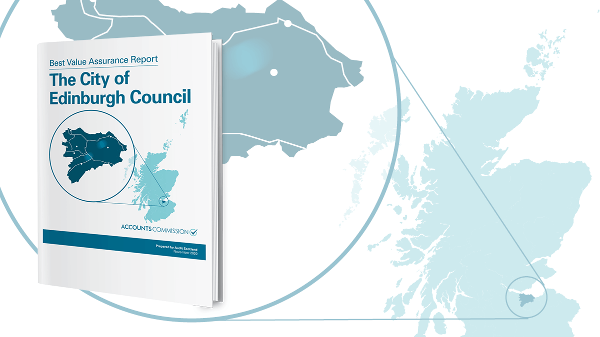 The City of Edinburgh Council report cover and map of Scotland
