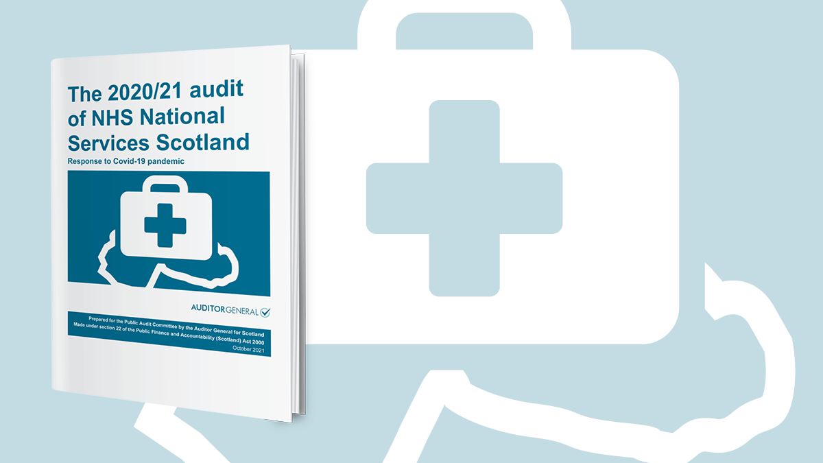 The 2020/21 audit of NHS National Services Scotland report cover